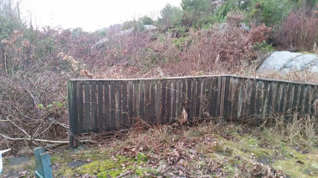 Så här såg staketet ut innan Johan Öhmans's ombyggnad.